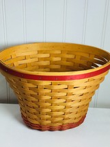 Longaberger Geranium May series Basket signed Bonnie 23986 Classic Stain - $59.35