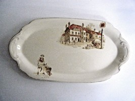 J & G Meakin Sunshine Oval Relish Dish Plate The Old Pack Horse Made In ... - $12.82
