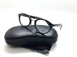 Ray-Ban RB 5354 2000 Shiny Black Round Plastic Authentic Eyeglasses 48mm - $99.93
