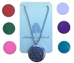 AROMATIC NATURALS Essential Oil Diffuser Pendant Necklace- Aromatherapy... - $18.77