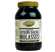 Golden Barrel Unsulfured Supreme Baking Molasses, 32 Oz. Bottle (Pack of 4) - $29.85