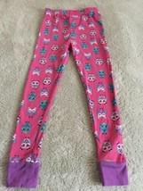 Girls Pink Purple Teal White Owls Snug Fit Pajama Pants 7 - $5.00