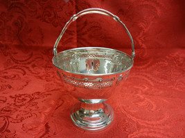 Vintage Sweet Meat Sterling Basket or Bowl with Handle by D&H Dominick &... - $249.00