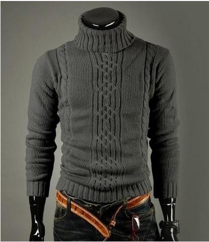 Men's Fashion necessary classic winter warm turtle neck turtleneck Sweaters Mens