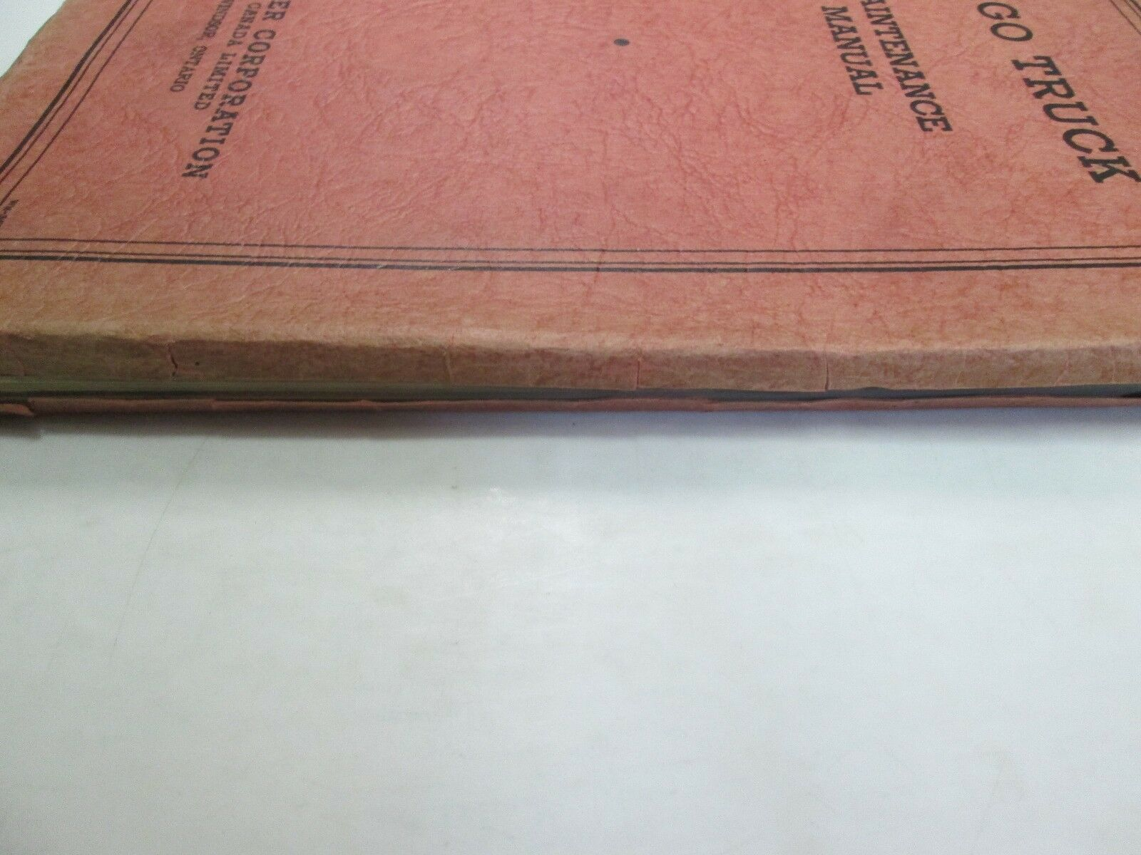 1935 Chrysler Fargo Truck Maintenance Manual MINOR WEAR FACTORY FEO BOOK 35 DEAL