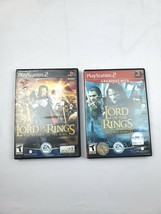 Playstation 2 Lot of 2 The Lord of the Rings Two Towers and Return of th... - $17.81
