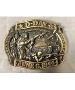 VTG D DAY NORMANDY INVASION JUNE 6 1944 COMMEMORATIVE LTD ED BELT BUCKLE - $25.73