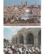 Two Jerusalem Postcards/ Blank Backs/ Not Stamped-Aged - $2.00