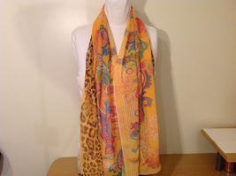 Paisley, Lines, Leopard Print Summer Sheer Fabric Multicolor Scarf, 6 colors image 9