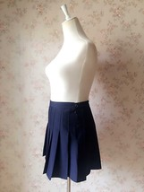 NAVY BLUE Girl School Skirt Tennis Skirt Navy High Waisted Pleated School Skirt image 4