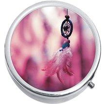 Pink Dreamcatcher Medicine Vitamin Compact Pill Box - $9.78