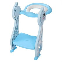 Toddler Potty Ladder Seat Toilet Step Stool for Kids Potty Training, Foldable Ad image 1
