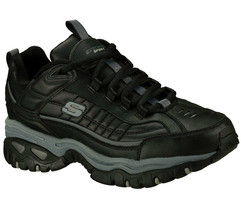 Skechers Black EW Wide Width shoes Men New Sport Train Leather Sneaker 5... - $49.79