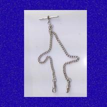Superb Vintage Edwardian Double Albert Fusee Pocket Watch Chain 1902 - $136.48