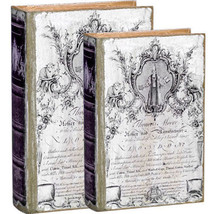 Antiqued Book Box Set Of 2 - 30010 - $39.59