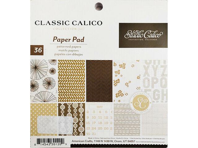 Studio Calico Classic Calico Collection 6x6 Inch Paper Pad #330120