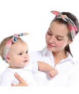 MummyWishes® 12Pcs/lot Mother Child Hair Band Cotton Rabbit Girls Headba... - $34.39