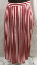 Vintage JH Collectibles Skirt Womens SP Red White Stripe Light Polyester... - $19.79