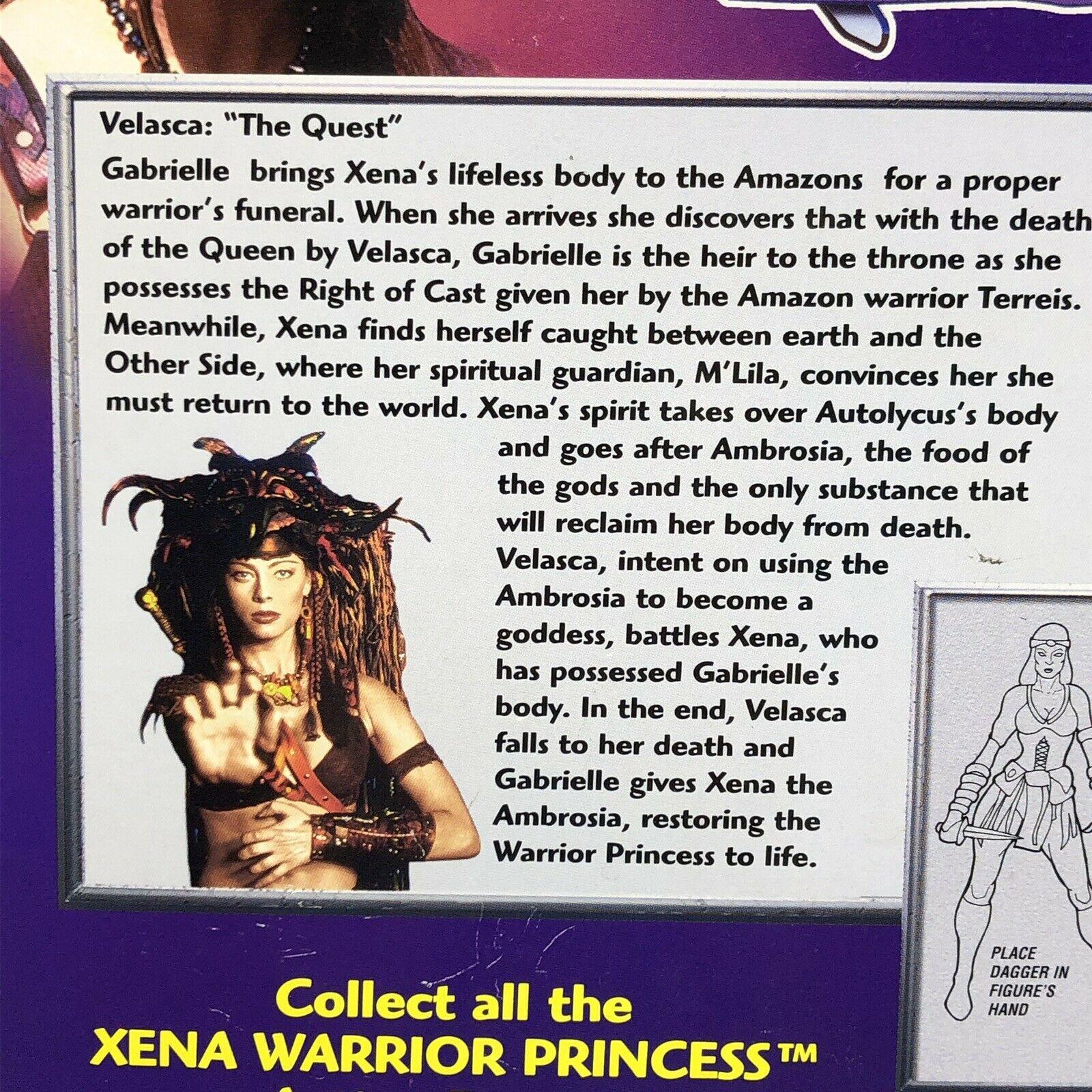 1998 Xena Warrior Princess Velasca Amazon Warrior Action Figure Sealed Toy Biz