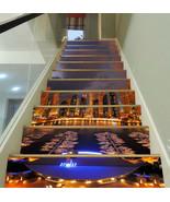 3D City Night Scene KE8661 Stair Risers Decoration Mural Vinyl Wallpaper... - $84.09+