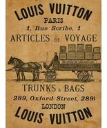 Louis Vuitton Articles De Voyage Advertisement Metal Sign - $29.95