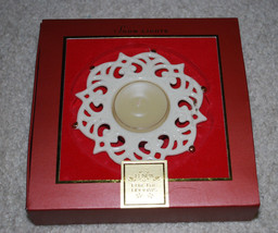 Lenox Snow Lights Candle Holder Sparkle Votive Holidays Christmas NEW NIB - $12.58