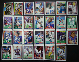 1991 Topps New York Giants Team Set of 27 Football Cards Super Bowl Cham... - $12.00