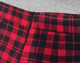 Red and Black Plaid Skirt Women Girl Plaid Skirt-School Mini Red Plaid Skirt image 5