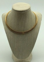 Premier Designs Jewelry - Choker Collar Gold Necklace with Design - $10.00