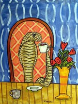 COBRA SNAKE COFFEE ANIMALs art print poster 13X19  impressionism new - $24.99