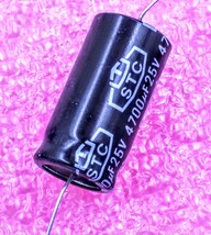 4700uF, 25V Axial Electrolytic Capacitor - Lot of 3 - $11.69