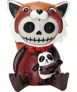 Ebros Furrybones Reddington The Red Panda Hooded Skeleton Monster Collec... - $11.98
