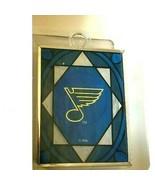 ST LOUIS BLUES NHL TEAM STAINED GLASS SUNCATCHER NEW NIP - £6.17 GBP