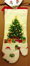 "Oversized Printed Kitchen 14.5"" Oven Mitt, WINTER, THE CHRISTMAS TREE - $8.90"