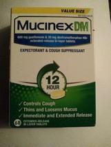 Mucinex DM 600 mg 12 hr Expectorant & Cough Suppressant 68 Tablets Expir... - $12.19