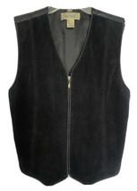 Great Northwest Clothing Company Black Suede Leather Vest Size S EUC - $42.24