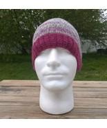 Hand Knitted Wool Beanie Hat Cap Thin Soft Faux Fair Isle Rose Hiking Wo... - $34.30