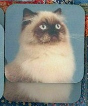 HIMALAYAN SEALPOINT CAT Rubber Backed Coasters #0892 - $8.94