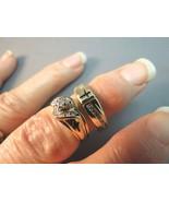 14k Yellow Gold Diamond Wedding Sets Briadal En... - $395.99