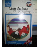"Gallery Glass Glass Painting Pattern ""Desert Moon"" - $9.85"