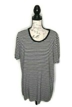 Vintage Lasting Comfort Womens Size Large Black & White Striped Sweater - $16.66