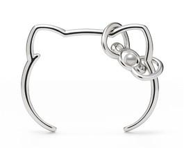 Stock Hello Kitty x MIKIMOTO Japan Akoya Pearl Ribbon Bracelet Bangle Si... - $987.03