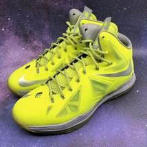 Nike Lebron X 10 Volt Neon Dunkman Mens Basketball Shoes Size 13 Sneakers - $128.69