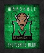 """Marshall Thundering Herd """"Retro College Logo Map"""" 13x16 Framed Print  - $39.95"""
