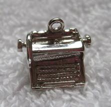 "Vintage Single Silver Charm Typewriter  1/2"" Long Not Marked Charm Bracelet D1 - $18.32"