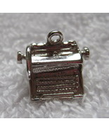 "Vintage Single Silver Charm Typewriter  1/2"" Long Not Marked Charm Brace... - $18.32"
