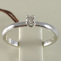 WHITE GOLD RING 750 18K, SOLITAIRE, STEM ROUNDED, WITH DIAMOND, CARAT 0.07 image 2