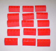 15 Used Lego 4 x 2 Red Slopes 3037 - $3.75