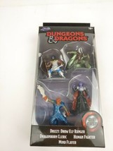 Jada Dungeons & Dragons Drizzt Ranger Cleric Fighter Flayer 4 Figure Die... - $7.97