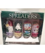 Cheese Spreader Set With Christmas Tree, Snowman, Winter Mitts, Boston W... - $15.00